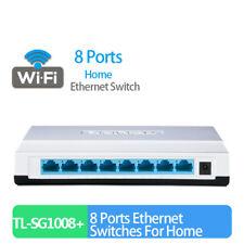 8 Ports Full Gigabit Ethernet Switches 10/100/1000Mbps Adaptive RJ45 Hub Switch