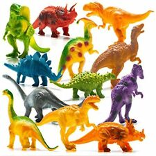 """Prextex Realistic Looking 7"""" Dinosaurs Pack of 12 Toys for Boys and Girls 3 Year"""