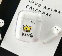 King Protective Case Compatible for AirPods 1 & 2 Cute Boyfriend/Husband Gift