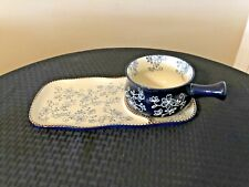 New listing Temp-tations Floral Lace Blue Soup/sandwich Dish