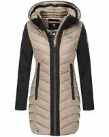Navahoo Damen Winterjacke Softshelljacke Mantel Regen Winter Jacke Flussperle
