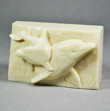 DOLPHIN SILICONE SOAP MOLD - DOLPHINS SOAP BAR MOULD Free P&P