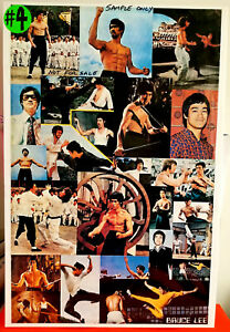 35 x 22 1/2 inch Bruce Lee Poster in Xlnt Condition $7.99