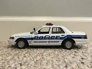 Colorado Springs CO Police Department diecast car Motormax 1:24 scale