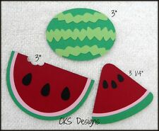 Die Cut Summer Fruit Watermelon Scrapbook Page Paper Piecing CKS Designs