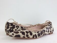8692c2b8e913 New Kate Spade Sz 6.5 Genie Pointy Toe Haircalf Print Brown Leopard Lace Up  Flat
