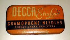 Gramophone needles DECCA EXTRA LOUD scatolina con puntine da grammofono    11/16