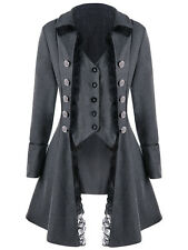 Hot Punk Rave Black gothic Jacket Rock cosplay Steampunk Sexy women Coat Lolita