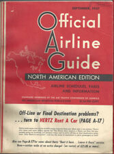 Official Airline Guide (OAG) North American timetable 9/57 [9012]