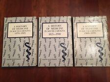 RARE History of Medicine in South Carolina, 3 Volume Set, 1670-1970, Waring, SC