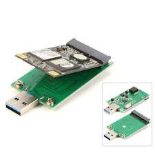 Mini Pcie PCI-E mSATA SSD to USB 3.0 Converter ASM1153E Adapter Card UASP SATA