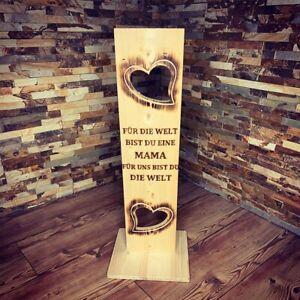 Holz Deko Schild mit Spruch ( Mama )
