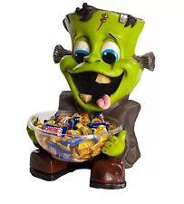 Frankie Candy Holder Trick or Treat Bowl Frankenstein Halloween Decoration
