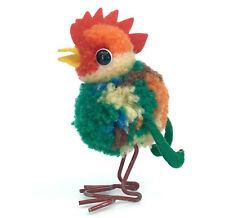 Steiff Woolen Rooster Chicken 8cm 3in Wool Pom Poms Metal Legs no ID Vtg