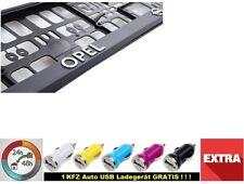 OPEL CHROM  Kennzeichenhalter  3D 2 stück  Neu Kennzeichenhalterung KFZ Echte