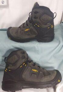"""KEEN Utility Dover 6"""" Waterproof Boots, 1021469, Magnet/Black, Men's Size 10EE"""