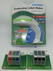 Dymo Xpress Embossing Label Maker express with + 3 coloured and 3 Black tapes