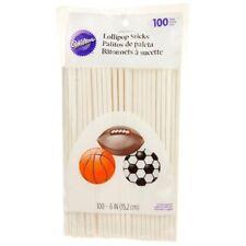 Wilton 6 Inch Lollipop Sticks, 100 Count
