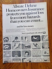 1968 Allstate Insurance Ad Allstate Deluxe Homeowners Protects Hazards Can Count