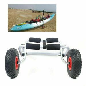 2 Wheel Kayak Canoe Boat Trailer Carrier Trolley Transport Cart Stand 150 lbs