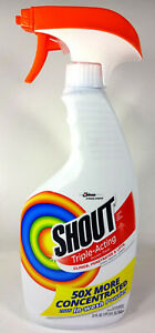 Shout Liquid Laundry Stain Remover, Triple Acting (22 fl oz Spray Bottle)