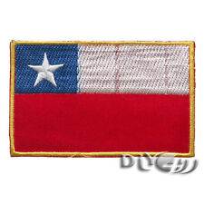 National Flag Chile Flag Embroidered Patch Sew or Iron on Patch Badage Applique
