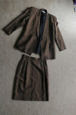 Morning Ady Women's Skirt Suit Brown Jacket Size 8 Skirt Size 8