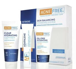 AcneFree Skin Balancing Hydrating System with Adapalene Gel 3 Piece Kit Exp:2021