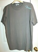 Fender Men's Gray Cotton Short Sleeve T-Shirt Size L