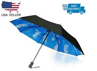 Compact Travel Umbrella - Windproof, Reinforced, Ergonomic Handle Automatic New