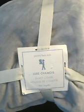 Pottery Barn Kids Luxe Chamois Duvet Cover Twin Gray NEW