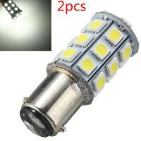 1157 White BAY15D P21/5W 27SMD 5050 Car 12V LED Tail Brake Light Bulb Lamp 2PCS