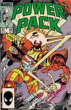 POWER PACK #18<>SECRET WARS II<>1986<>Marvel Comic<>fine ~