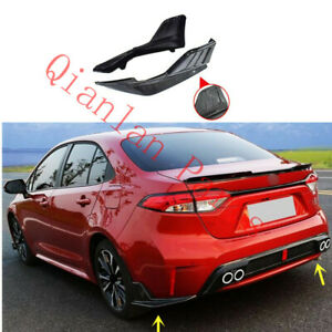 Carbon Fiber Rear Bumper Spoiler Splitter For Toyota Corolla L LE XLE 2020-2022
