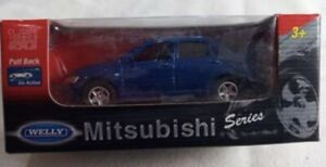 Welly Go Action Car Mitsubishi Series 1:60 Blue COLLECTORS