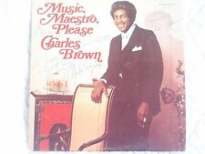 CHARLES BROWN MUSIC MAESTRO PLEASE LP SIGNED AUTOGRAPHED BLUES R&B