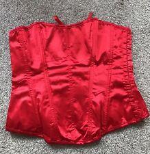 Mesdames rouge basque/corset Taille XL