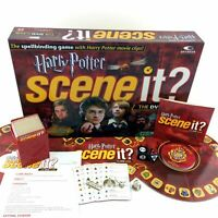 Harry Potter Scene It DVD Trivia Board Game 1st Edition Collectible Pewter Parts