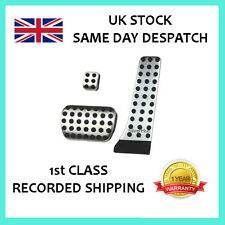 FOR MERCEDES-BENZ S CLASS W222 NEW AMG STYLE CHROME STEEL FUEL BRAKE PEDAL SET
