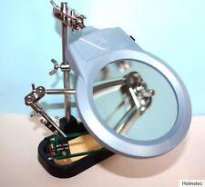 Dritte Hand LED Löthilfe m. Lupe 2-fach Platinenhalter Werkzeughalter Stativ
