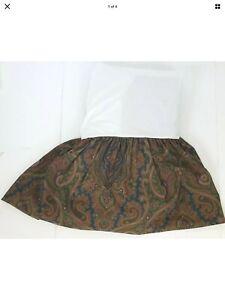 RALPH LAUREN Paisley BRIANNA Custom QUEEN Brown Red Blue Bed Skirt Dust Ruffle