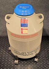 Union Carbide Liquid Nitrogen Cryogenics Dewar 34xt With 5 Dipper Sample Holders