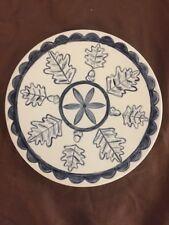 "6"" The Mighty Oak Pennsylvania Dutch Hex Sign Blue Ceramic Holland Strength"