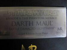 "Master Replicas Darth Maul Battle Damaged Lightsaber """"Artist Proof"" Star Wars"