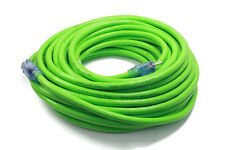 100 ft Extension Cord 3 Plug Lighted 12/3 Gauge Electrical Cord Heavy Duty Green