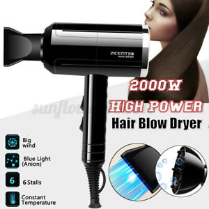 Professional Travel Hairdryer Compact Foldable Blow Dryer Styler Adjustable Heat