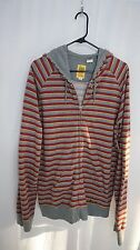 Paul Frank Men's Striped Zip Front Pocket Hoodie Jacket Sz XL
