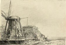 Rembrandt Etching Reproductions: The Windmill: Fine Art Print