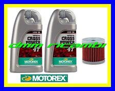 Kit Tagliando SUZUKI DRZ 400 '00>'12 Filtro Olio MOTOREX Cross Power 10W/50 DR-Z