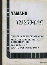 (24B) REVUE TECHNIQUE MANUEL ATELIER MOTO YAMAHA YZ125 (H) / LC